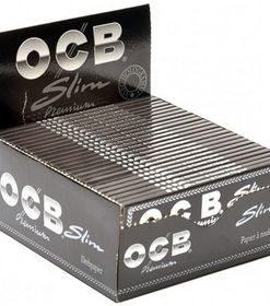 Ocb Μαύρα Premier Slim King Size Χαρτάκια