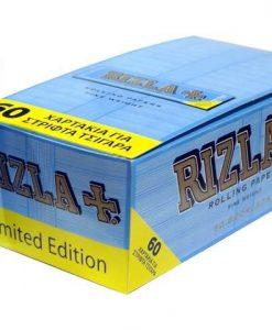 Rizla γαλάζια 60 φύλλα χαρτάκια