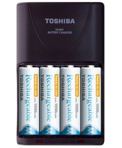 Toshiba Φορτιστής & AA Επαναφορτιζόμενη Μπαταρία (4τμχ)