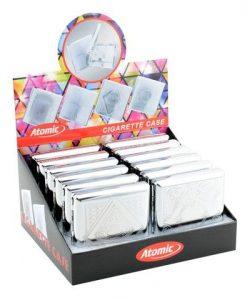 Atomic Ταμπακιέρα Τσιγάρου Chrome Metal