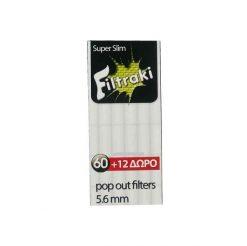 Filtraki Mini Super Slim 5.6mm 60+12 Δώρο Φιλτράκια
