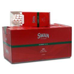 Swan Κόκκινα Slim Φιλτράκια 6mm (Συσκευασία 20 Τεμαχίων)