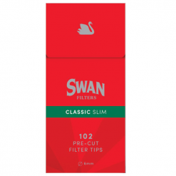 Swan Κόκκινα Slim Φιλτράκια 6mm (Τεμάχιο)