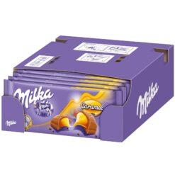 Milka Caramel Σοκολάτα 100gr (Συσκευασία 18 Τεμαχίων)