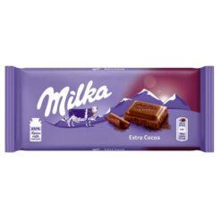 Milka Extra Cοcοa Σοκολάτα 100gr (Τεμάχιο)
