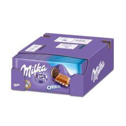 Milka Oreo Σοκολάτα 100gr (Συσκευασία 22 Τεμαχίων)
