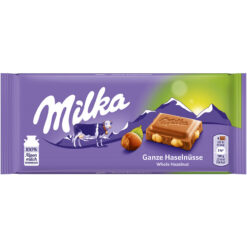 Milka Whole Hazelnuts Σοκολάτα 100gr (Τεμάχιο)