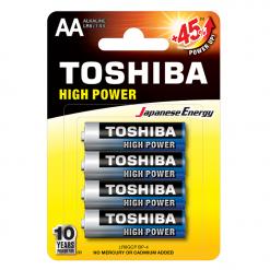 Toshiba AA High Power Αλκαλικές Μπαταρίες 4 Τμχ