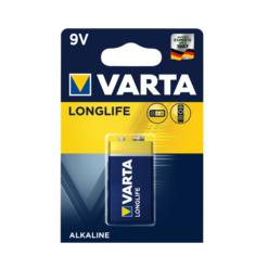 Varta Longlife 9V Αλκαλική Μπαταρία 1 Τμχ (Τεμάχιο)