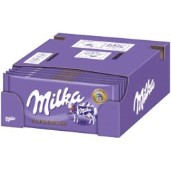 Milka Alpine Milk Σοκολάτα 100gr (Συσκευασία 24 Τεμαχίων)