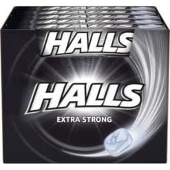 Halls Extra Strong Καραμέλες 33.5gr (Συσκευασία)