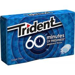 Trident 60 Minutes Μέντα Τσίχλες 20gr