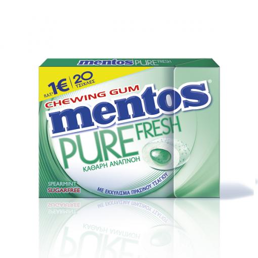 Mentos Pure Fresh Δυόσμος Τσίχλες 30gr