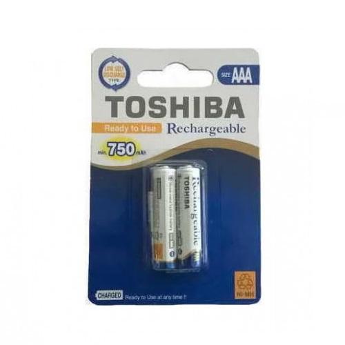 Toshiba AAA Επαναφορτιζόμενη Μπαταρία 2 Τμχ