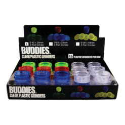 Buddies Πλαστικό 42mm 3 Parts Grinder (Συσκευασία 45 Τεμαχίων)