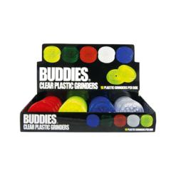 Τρίφτης Καπνού Πλαστικός 60mm 2 Θέσεων Buddies