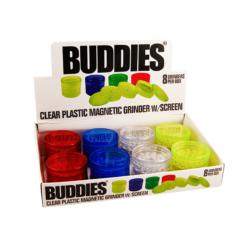 Τρίφτης Καπνού Πλαστικός 60mm 5 Θέσεων Buddies