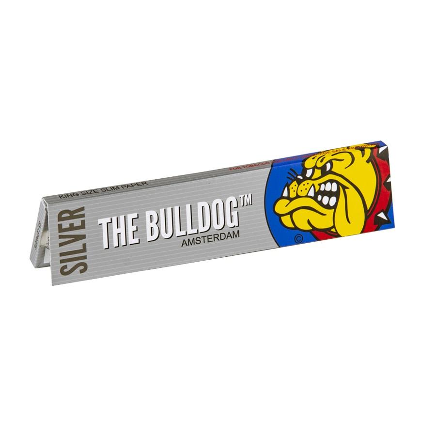 The Bulldog Ασημί King Size Slim Χαρτάκια