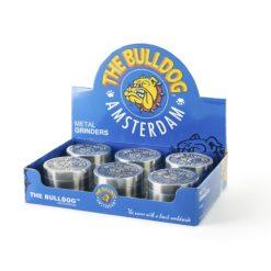 Τρίφτης Καπνού Μεταλλικός 50mm 4 Θέσεων The Bulldog (Συσκευασία)