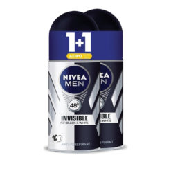 Nivea Black & White Invisible Man 1+1 Δώρο Αποσμητικό 50ml