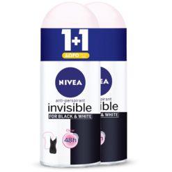 Nivea Black & White Invisible Woman 1+1 Δώρο Αποσμητικό 50ml