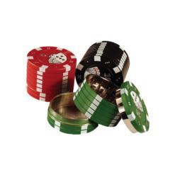 HBI Poker Chip Μεταλλικός 40mm 3 Θέσεων Τρίφτης Καπνού