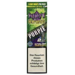 Juicy Hemp Wraps Purple 2 Τμχ Πουρόφυλλα (Τεμάχιο)