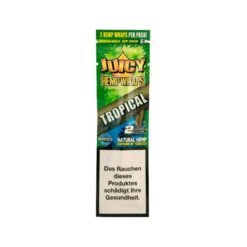 Juicy Hemp Wraps Tropical 2 Τμχ Πουρόφυλλα (Τεμάχιο)
