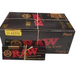 Raw Classic Black 1.1/4 Χαρτάκια + Tips (Συσκευασία)