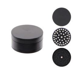 Atomic All Black Μεταλλικός 50mm 3 Θέσεων Τρίφτης Καπνού (Τεμάχιο)