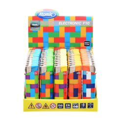 Atomic Ηλεκτρονικός F10 Tiles Αναπτήρας (Συσκευασία 50 Τεμαχίων)