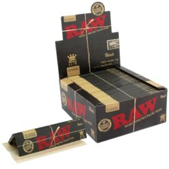 Raw Classic Black King Size Slim Χαρτάκια + Tips (Συσκευασία 24 Τεμαχίων)